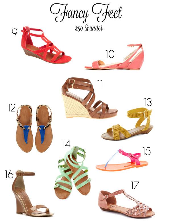 Hot Summer Sandals for Under $50