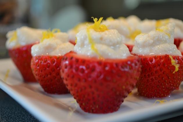 Berries with zest