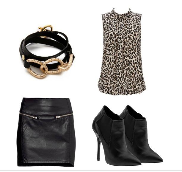 Blair Eadie's Leopard & Leather Dress