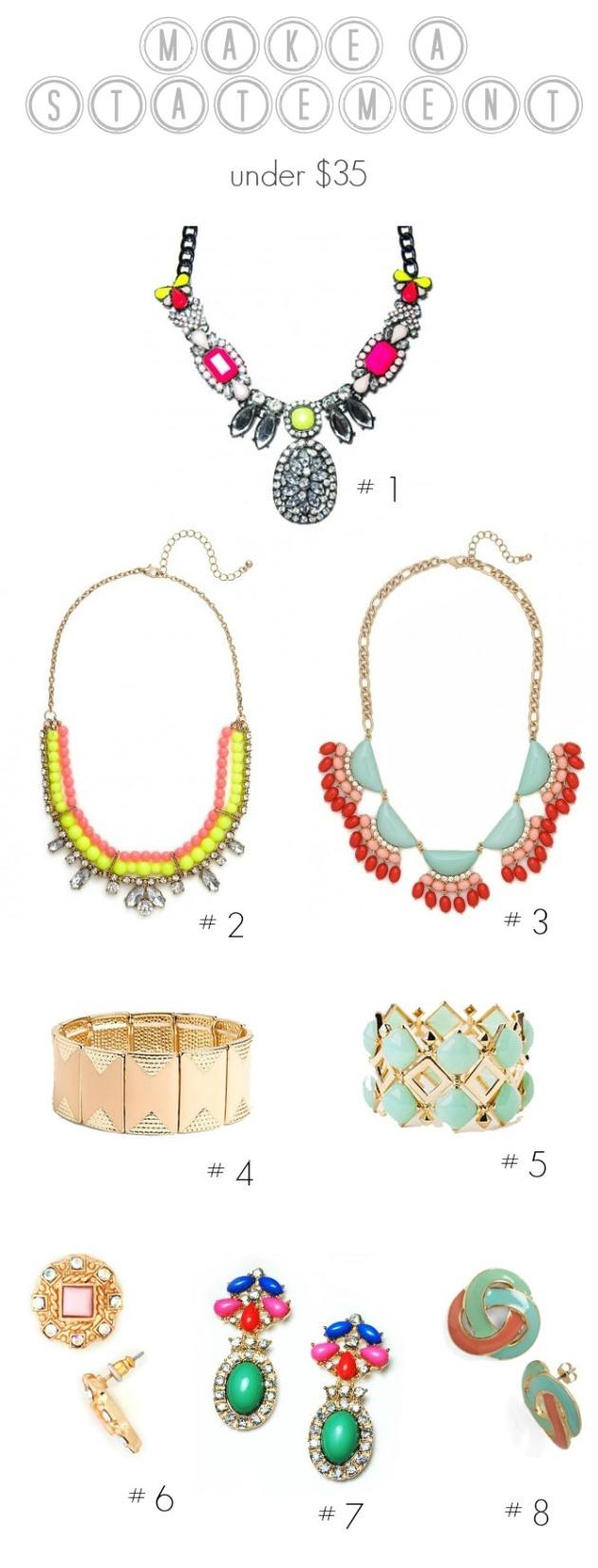 Statement Jewelry Under $35