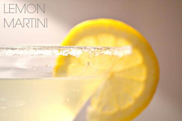 sugared rim glass & lemon martini