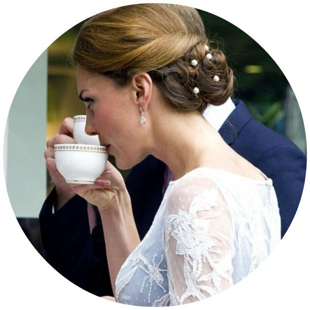Kate Middleton Sipping Tea