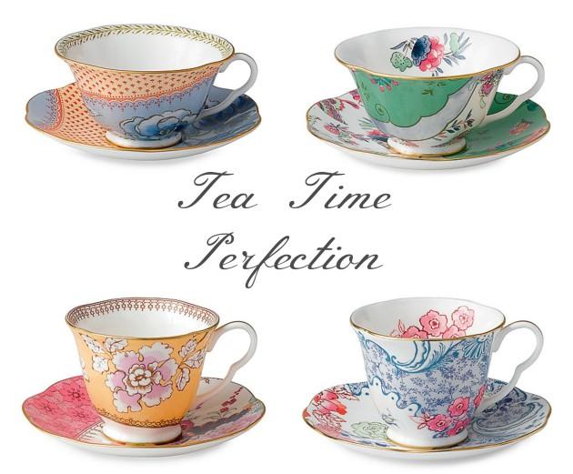 Multi Colored Teacups