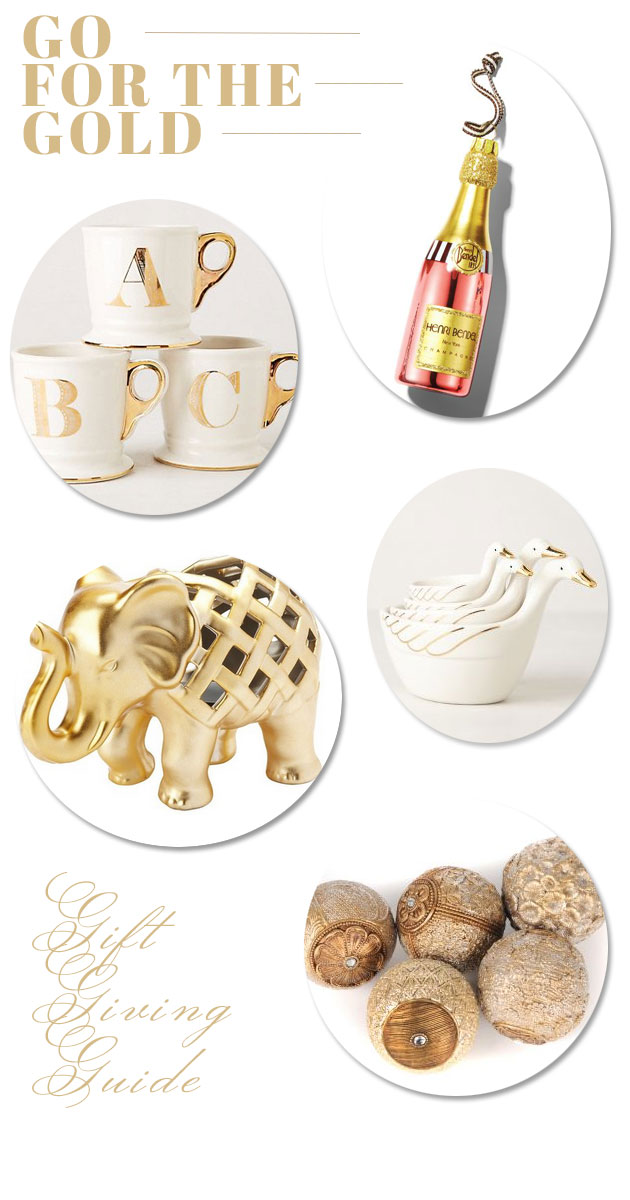 Hostess Gift Giving Guide: Gold Accents