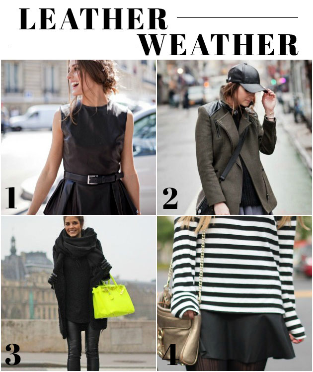4 ways to wear leather this fall