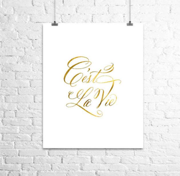 C'est la vie print from Etsy